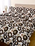 Bloomsbury Chocolate Double Bed Soft Touch Duvet Cover Set