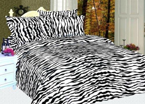Zebra Print - 6 Piece 800 Count Microfiber Sheet Set - Full front-706047