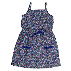 Buttercups Girls' 7 years Cotton Floral Printed Summer Dress (CFL00D, Multicolour, 27 inches)
