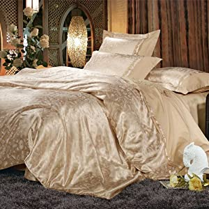 Amazon.com - DIAIDI, Luxury Bedding Sets, Elegant Vintage Gold ...
