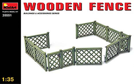 Mini Art 35551 Wooden Fence 1:35 Plastic Kit Maquette
