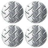 Liili Round Coasters (4 Piece) Shiny diamond plate background Photo 10182822 Set Cup Mat Mug Can Water Bottle Drink Customized Stain Resistance