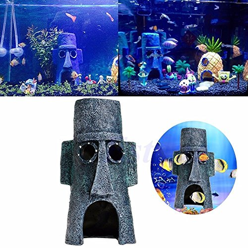 Aquarium Landscaping Decoration Aquatic Animals House Home Fish Tank Ornament Set015