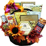 Art of Appreciation Gift Baskets   Fall Fantasy Thanksgiving Gourmet Food Tower