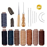 Bookbinding Tools Kits,22PCS Premium Sewing Tools for Leather,Handmade Books and Paper DIY Bookblind Set, Including Sewing Needles/Waxed Thread/Awl and So On Like Main Picture (Color: 22 Pcs)