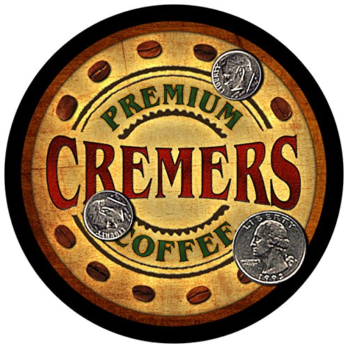 Cremers Family Coffee Rubber Drink Coasters - Set of 4 (Coffee Cremer Set compare prices)