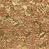 Lafayette Bloom Gold Sequin Satin 52 Inch Fabric by the Yard (F.E.®)