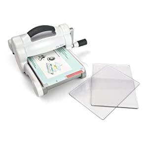 Sizzix 660425 Big Shot Cutting/Embossing Machine with Extended Multipurpose Platform, White/Gray