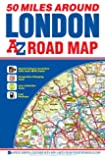 50 Miles Around London Road Map (A-Z Road Map)