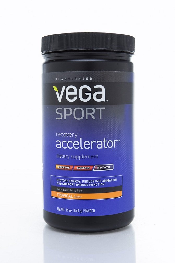 Vega Sport Post-Workout Recovery Accelerator, Tropical, 19oz, 20 Servings