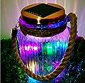 4Color 8LED Copper Wire Copper Finish Light Cap Solar Glass Jar Sogrand Solar Lights Small Glass Jars with Lids Hanging Lights Hanging Solar Lights Outdoor