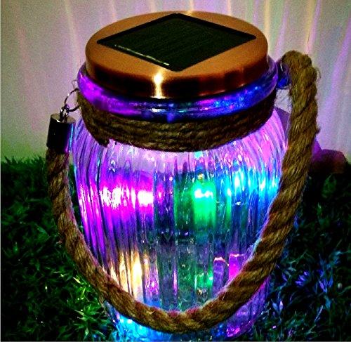 Copper Wire Solar Glass Jar Lantern