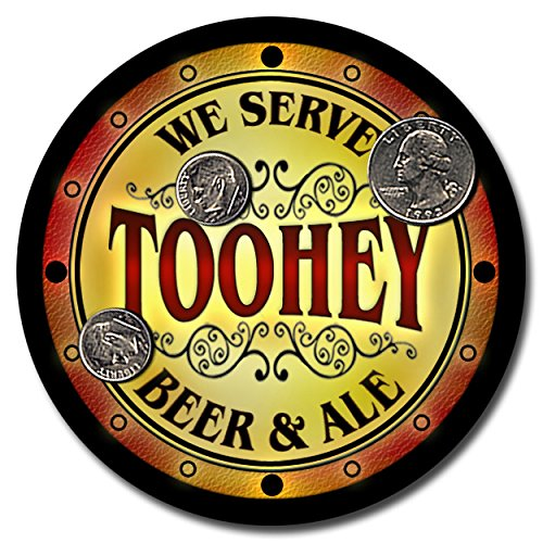 toohey-family-name-beer-and-ale-rubber-drink-coasters-set-of-4