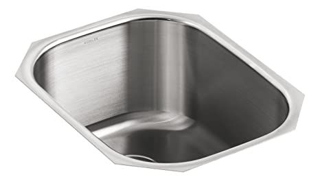 KOHLER K-3164-NA Undertone Rounded Single-Basin Undercounter Kitchen Sink, Stainless Steel