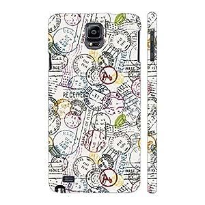Enthopia Designer Hardshell Case Stamp It Back Cover for Samsung Galaxy Note 4