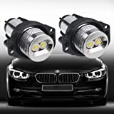 VANJING 2PCS 6W 7000K BWM LED Angel Eyes Halo Light Bulb for BMW 3 Series Fit for 03.2005-09.208 BMW E90(Sedan/Saloon),09.2005-09.2008 E91 (Touring)