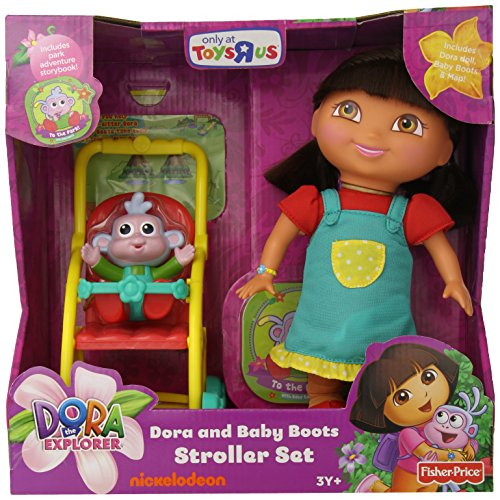 Fisher-Price Boots and Dora the Explorer Stroller Set - 1