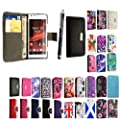 GSDSTYLEYOURMOBILE {TM} SONY XPERIA SP M35H PREMIUM QUALITY PU LEATHER MAGNETIC FLIP CASE SKIN COVER POUCH + STYLUS (Black Book Flip)