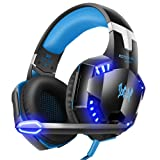 G2000 Stereo Gaming Headset. LinGear Xbox One PS4 Headset PC Gaming Headset, Noise Cancelling, Over Ear Headphones with Mic, LED Light, Soft Memory Ea