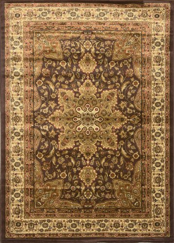 Traditional Area Rug, Royal Treasure Brown 7'8