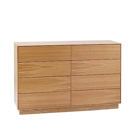 Schubladen Sideboard mit Eiche furniert 125 cm Pharao24