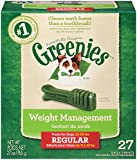 GREENIES Weight Management Dental Chews Regular Dog Treats - Treat TUB-PAK Package 27 oz. 27 Count