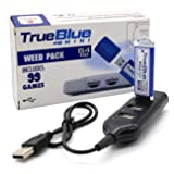 The perseids True Blue Mini Weed Pack USB Flash Drives 64GB Game Memory Stick with 4-Port Hub for Playstation Classic - Includes 99 Games (Weed Pack) (Color: Weed Pack)