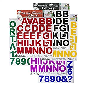 THE PEEL PEOPLE Wall-Safe Removable Letters & Numbers (390 Total Stickers)