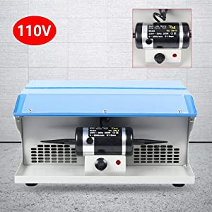 Benchtop Jewelry Polishing Buffing Machine Dust Collector Tabletop Jewelry Polisher Buffer 200W + Light (US STOCK)