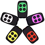XIHADA Universal Garage Door Remote Garage Door Opener Remote Gate Remote Control Programmable Learning 4-Buttons Multi Frequency 280MHZ-868MHZ . (5, (White, Red, Green, Yellow, Purple)) (Color: 5 Colors)