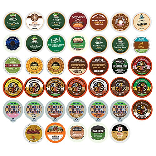 Custom Variety Pack Decaf Coffee Single Serve Cups for Keurig K Cup Brewers, 40 Count (Counting Sheep Coffee Keurig compare prices)