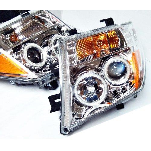 2005-14 Nissan D40 Uk Pathfinder Navara Frontier Projector Led Head Lamp (Pair)