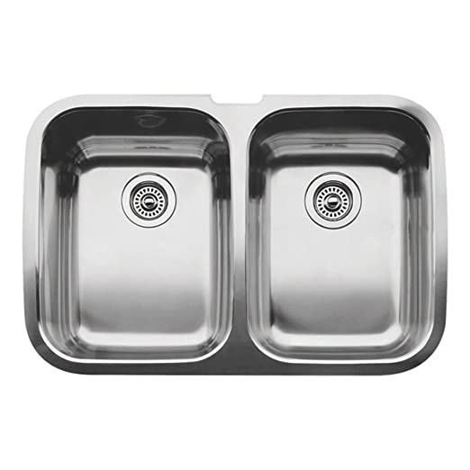 Blanco 511-577 Supreme 2 Equal Double Bowl Undermount Kitchen Sink, Satin Polished Finish