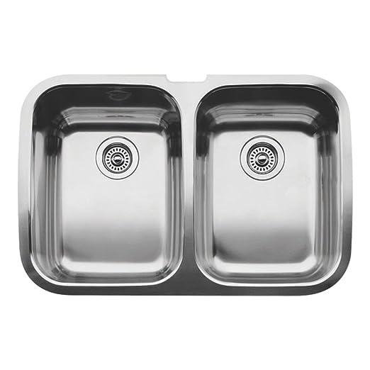 Blanco 511-577 Supreme 2 Equal Double Bowl Undermount Kitchen Sink, Satin Polished Finish