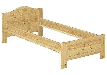 Telaio letto classico 90x200 in Pino massello Eco laccato senza doghe e materasso 60.37-09 oR