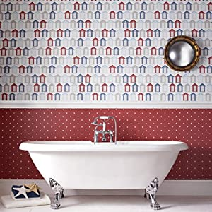 Contour Dotty Wallpaper Red