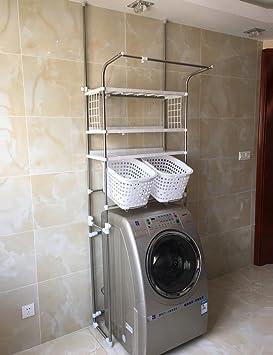 ZCJB Ripiani di lavatrice Balcone Mensole Per Lavatrice Scaffale Regolabile In Acciaio Inox Mensola Per Il Deposito E La Finitura Della Vasca Da Bagno