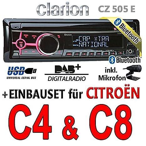CITROËN c4 c8-clarion cZ505E-bluetooth/dAB autoradio avec écran digital