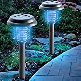 OUTXPRO LED Solar Powered Garden Lamp with Electronic Mosquito Zapper Function - 2 in 1 Zapper and Lantern Light(Switch)