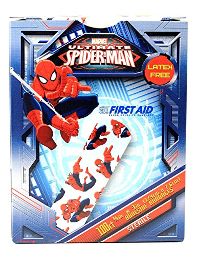 Children's Adhesive Bandages - Spiderman - Box of 100
