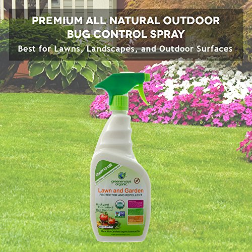 Greenerways Organic Insecticide Mosquito Repellent, Backyard Insect Repellent  Natural Insect Killer, USDA Organic, Non GMO, Non Toxic, Insect Repellant,  ...
