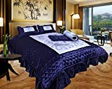 El Sandlo Ethnic traditional indian satin wedding bedding set of 4 pcs.