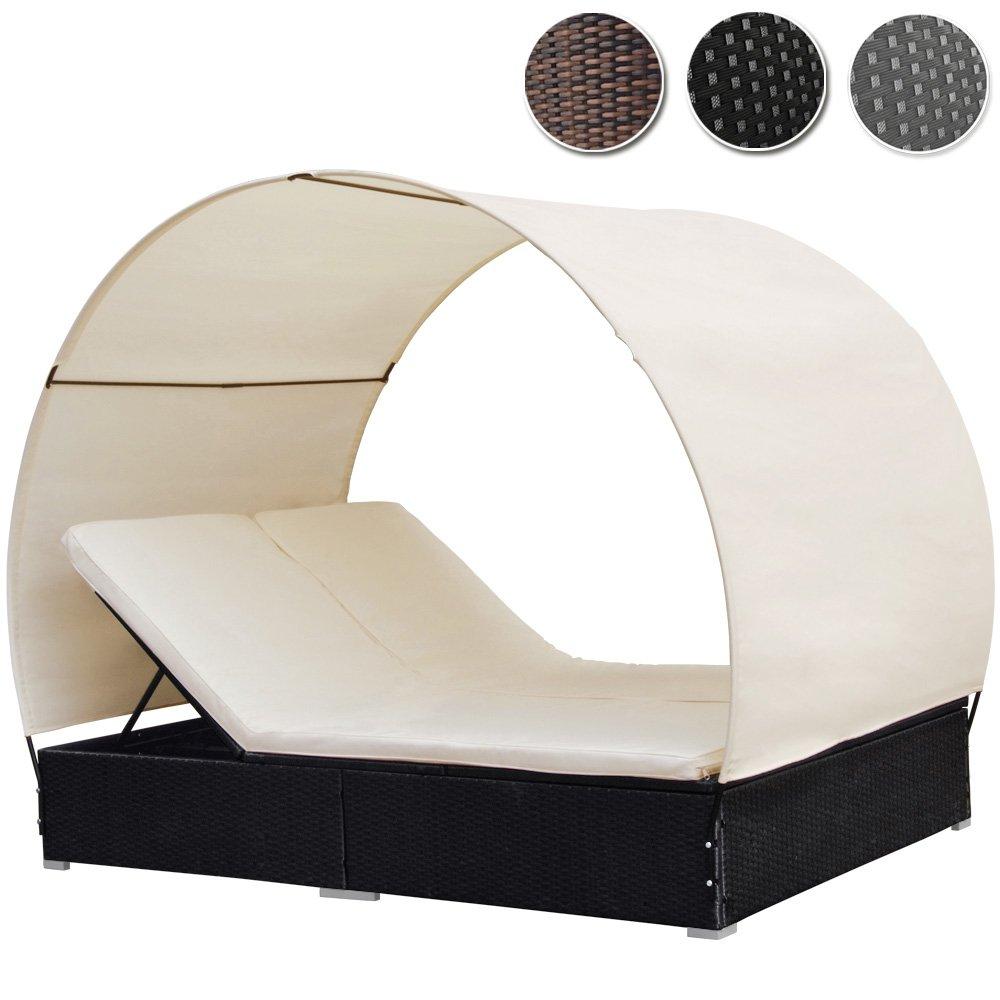 Poly Rattan Lounge Sonneninsel Wohlfühllandschaft (Farbwahl) mit Dach 2 Personen günstig bestellen