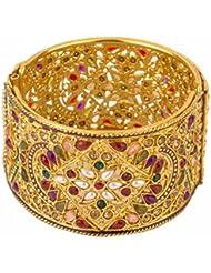 Zeneme Antique Style Gold Plated Kada/ Bangle Jewellery For Women / Girls