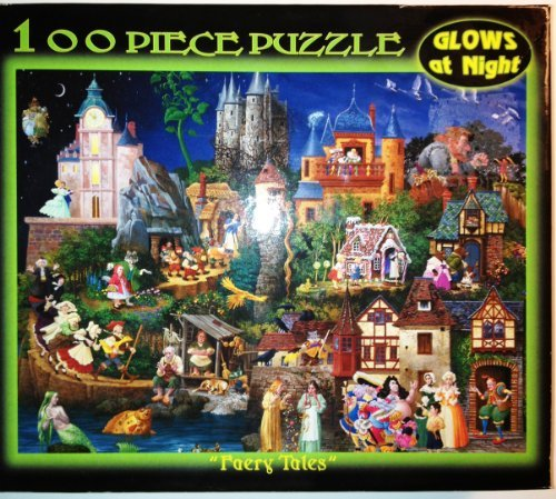 "12"" X 9"" 100 Piece Puzzle - Faery Tales Glows At Night"
