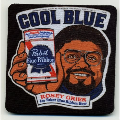 Amazon.com | Pabst Blue Ribbon Beer Coaster Set of 4 - Rosey Grier