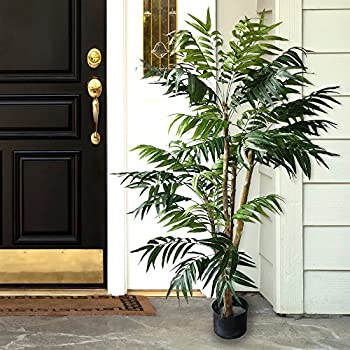 5 foot Pure Garden Tropical Palm Artificial Tree