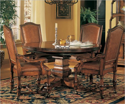 Hooker Furniture 342-75-201 Wynterhall Round Pedestal Dining Table in Warm Brown