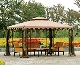 10 x 12 Double Roof Gazebo Replacement Canopy and Netting - RipLock 350