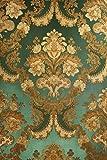 Vinyl Tapete Barock Retro # grün/gold # Fujia Decoration #...